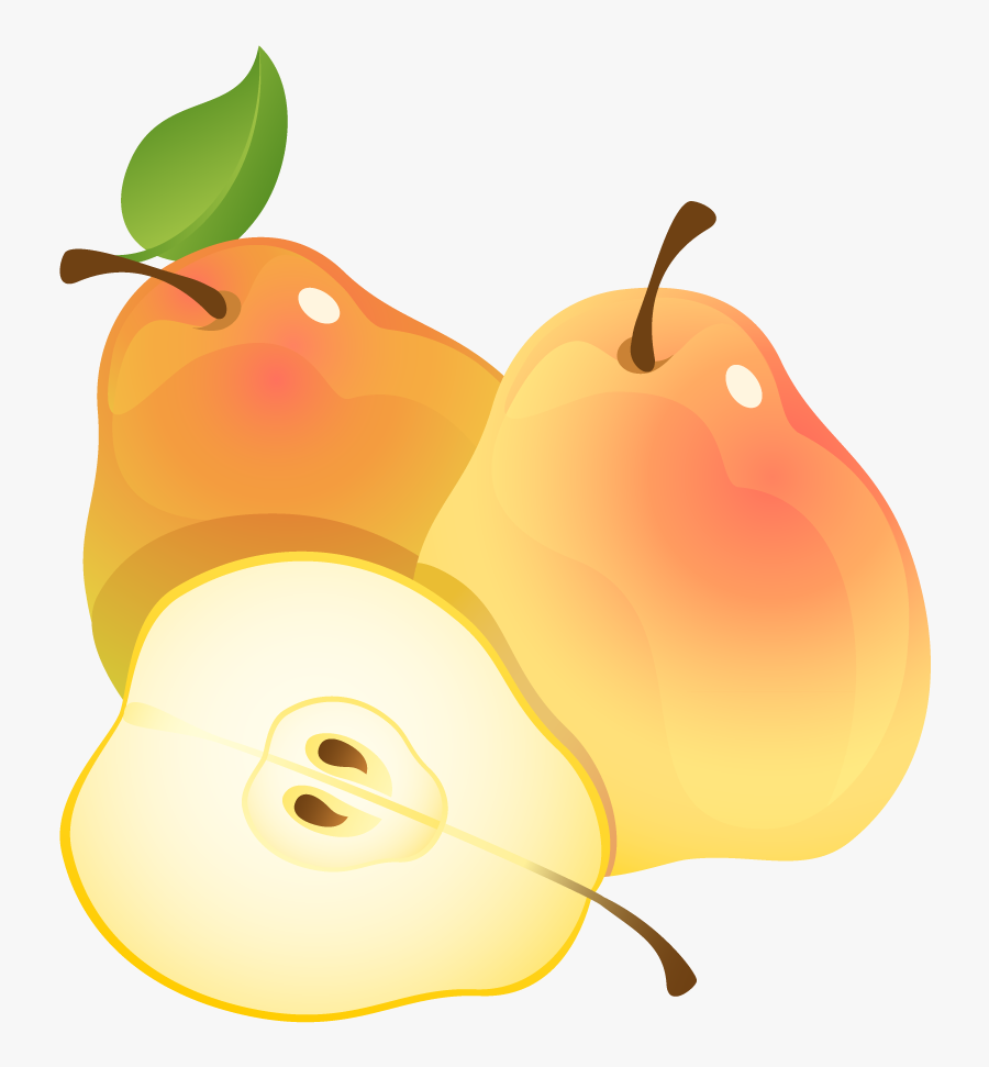 Large Painted Pears Png Clipart - Pears Clip Art, Transparent Clipart