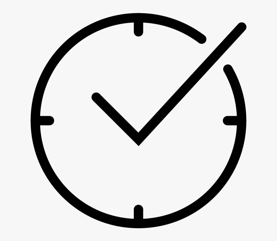 Pencil In A Circle Icon Clipart , Png Download - Alarm Clock Line Drawing, Transparent Clipart
