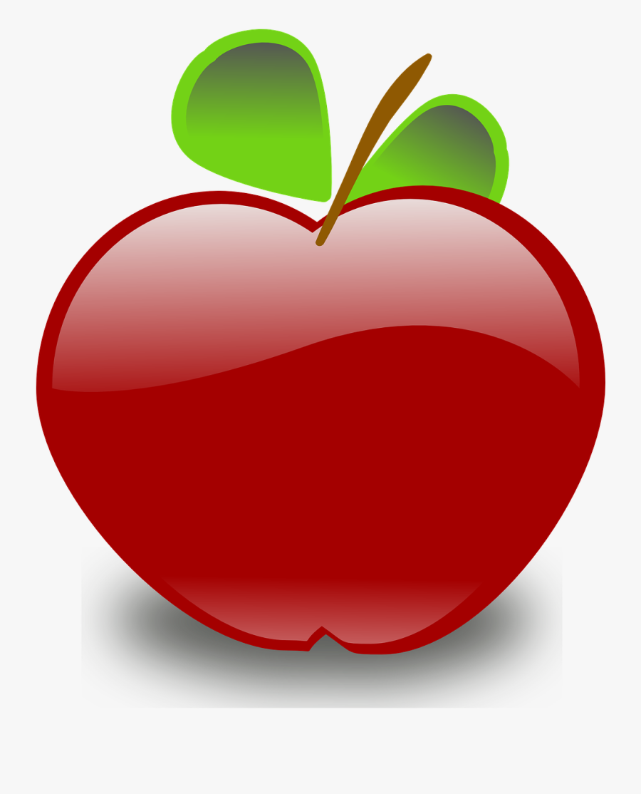 Red Apple Fruit Leaves Food Png Image - Apple Clip Art, Transparent Clipart