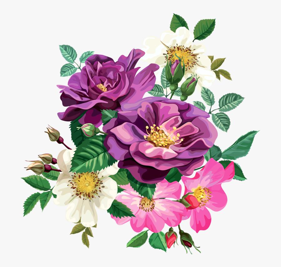 Rose Bouquet Cli̇part Transparent - Transparent Background Flower Bouquet Clipart, Transparent Clipart