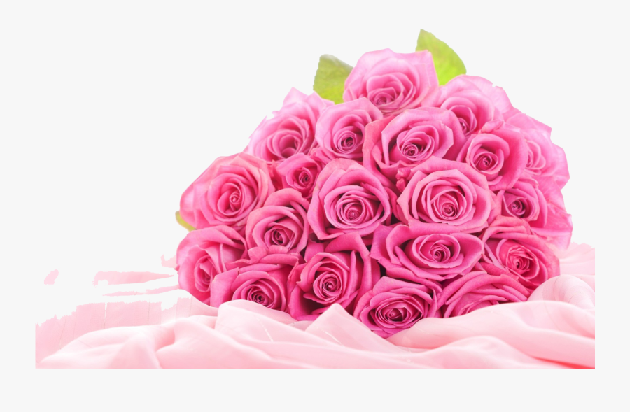 Download Pink Roses Flowers Bouquet Png Clipart - Pink Flowers Bouquet Png, Transparent Clipart