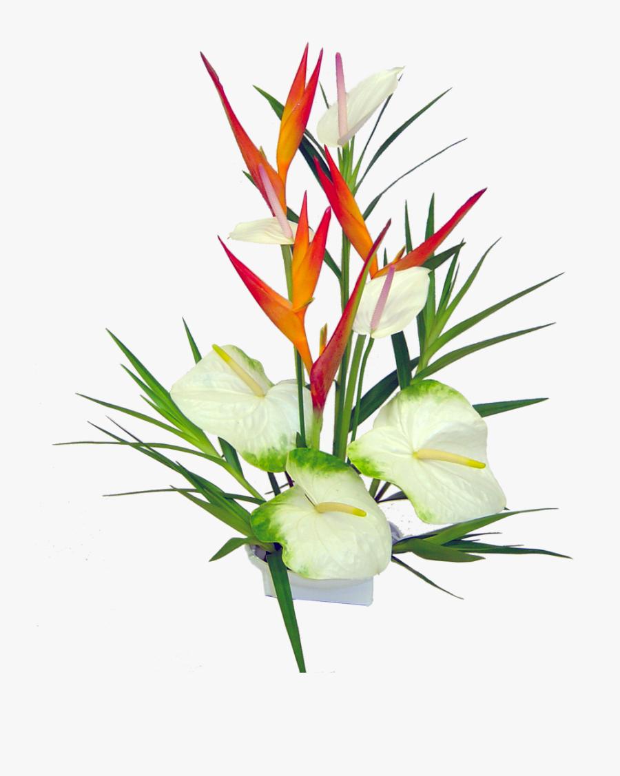 Haleakala Tropical Hawaiian Flower Bouquet Hawaiian - Tropical Flowers Tumblr Png, Transparent Clipart