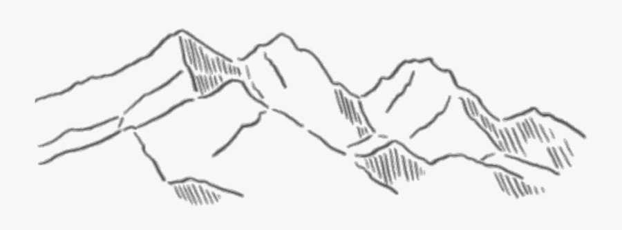 Drawing Aesthetics Line Art Sketch - Aesthetic Mountain Drawing, Transparent Clipart