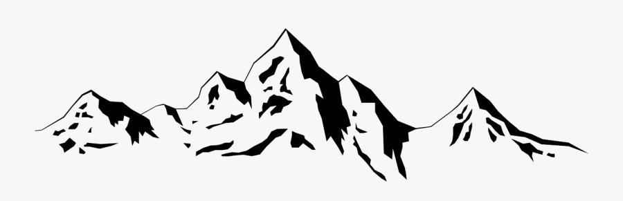 Transparent Mountain Outline Png - Silhouette Mountain Range Clipart, Transparent Clipart