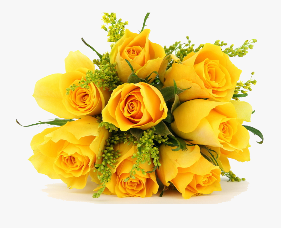Yellow Flowers Bouquet Flowers Png Photos - Bunch Of Yellow Rose Flowers, Transparent Clipart
