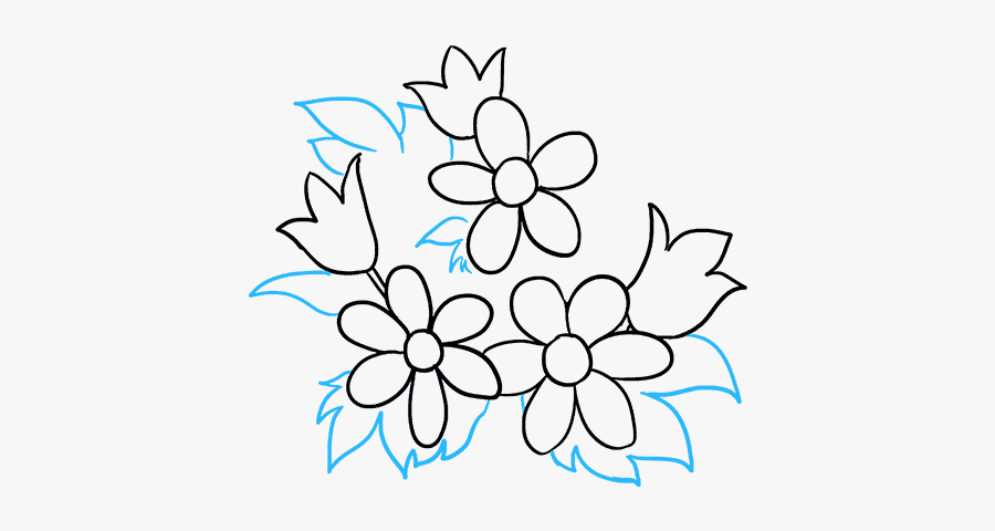 Flower Bouquet Drawings For Beginners, Transparent Clipart