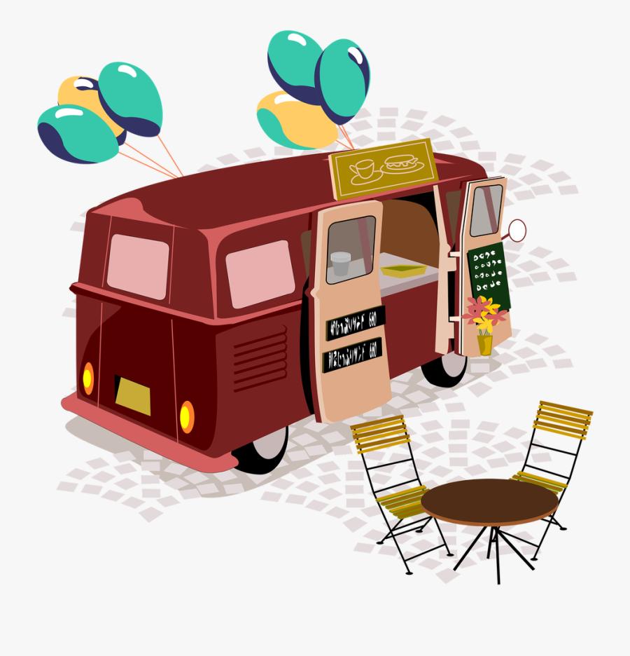 Transparent Food Truck Clipart - Food Truck Party Invitation, Transparent Clipart