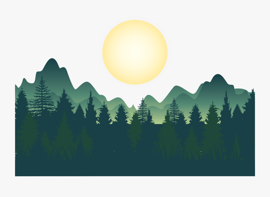 Mountain Clipart Wallpaper - Forest Illustration Background Vector, Transparent Clipart