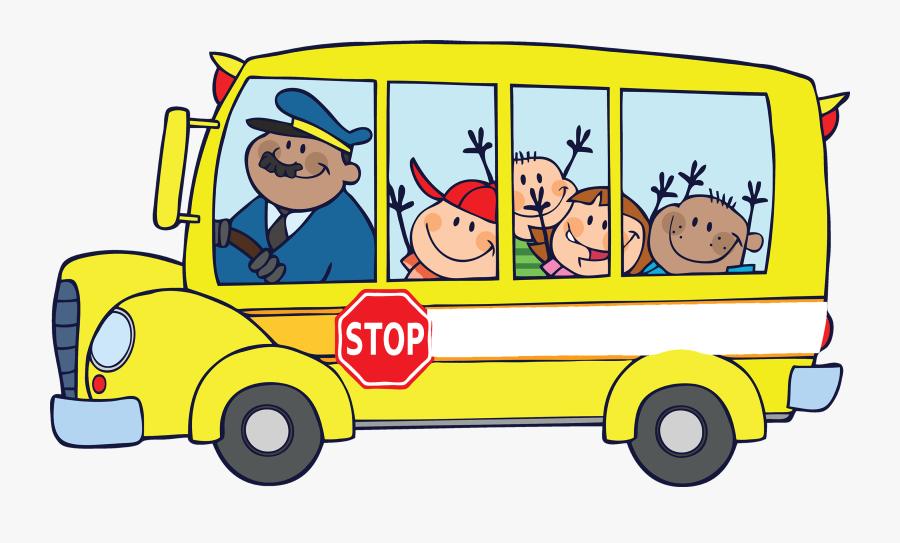 Moving - Community Helpers School Bus Driver, Transparent Clipart