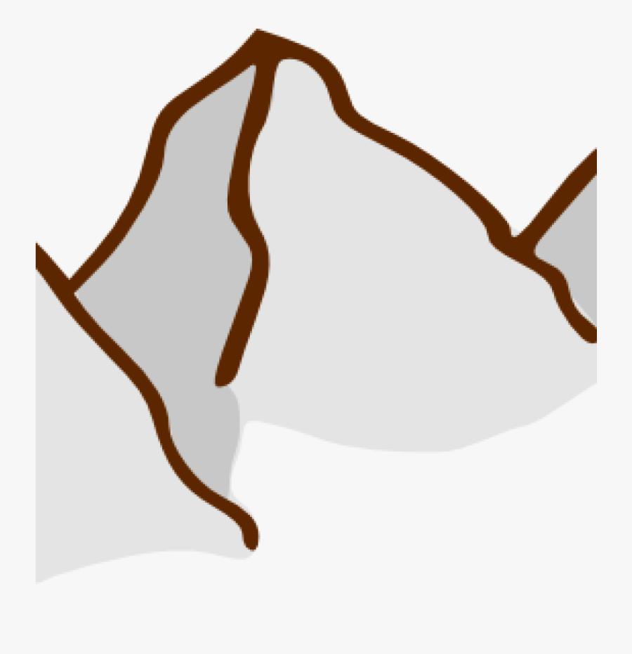 Transparent Elements Clipart - Mountain Range Symbol On A Map, Transparent Clipart
