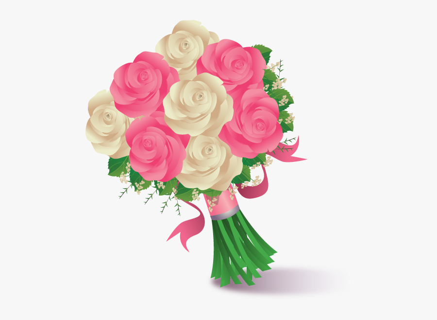 Transparent Flower Bouquet Clipart Png - Offer Flower Bouquet Drawing, Transparent Clipart
