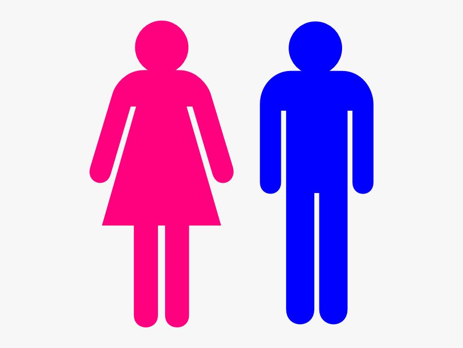 Symbol Male And Female Clip Art - Man And Women Stick Figure, Transparent Clipart