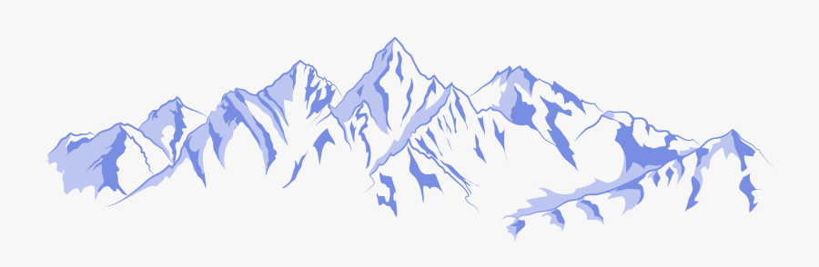 Mountain Range Euclidean Vector - Blue Ridge Mountains Outline, Transparent Clipart