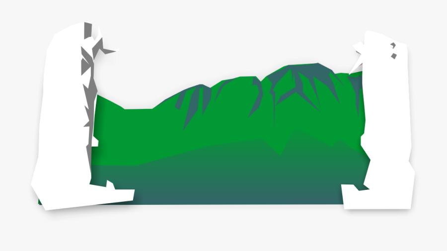 Vector Hills Mountain Terrain Clipart , Png Download - Illustration, Transparent Clipart