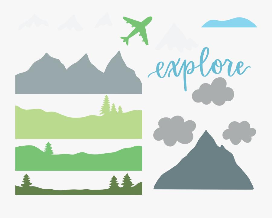 Transparent Journaling Clipart - Mountain Cut Png, Transparent Clipart