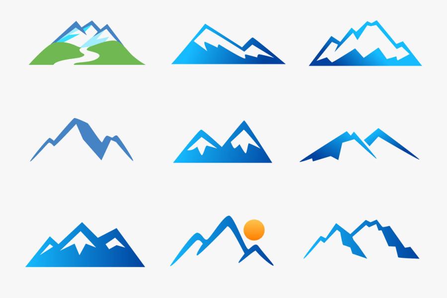 Mountain, Stock Photography, Mountain Range, Blue, - Icono Mountain Range Png, Transparent Clipart