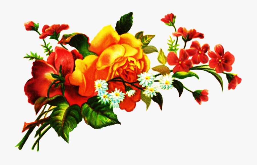 Scrapbooking Flowers - Transparent Flower Bouquet Png, Transparent Clipart