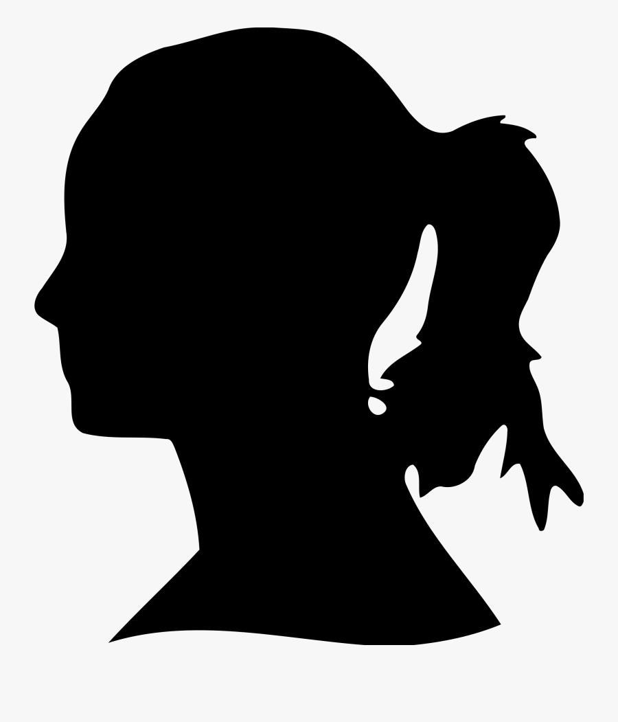 Hd Face Clip Art - Woman's Head Silhouette Png, Transparent Clipart