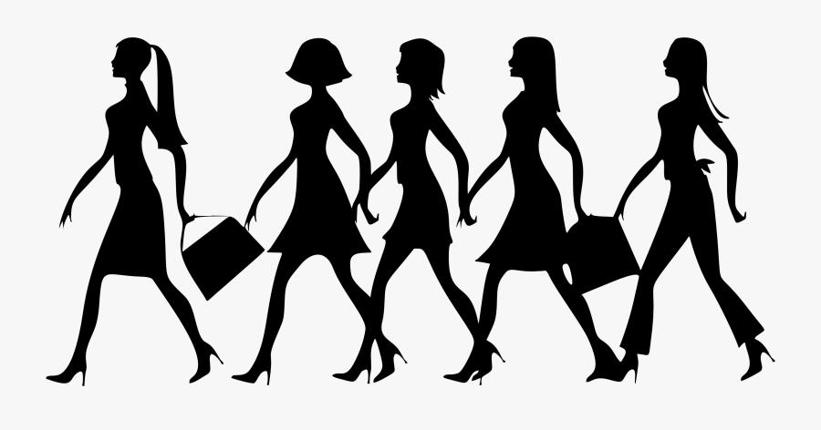 Human - Women Walking Clip Art, Transparent Clipart