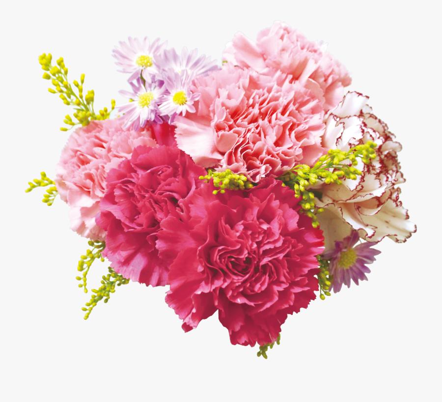 Flower Bouquet Carnation Floral Design Cut Flowers - Transparent Background Flowers Png, Transparent Clipart