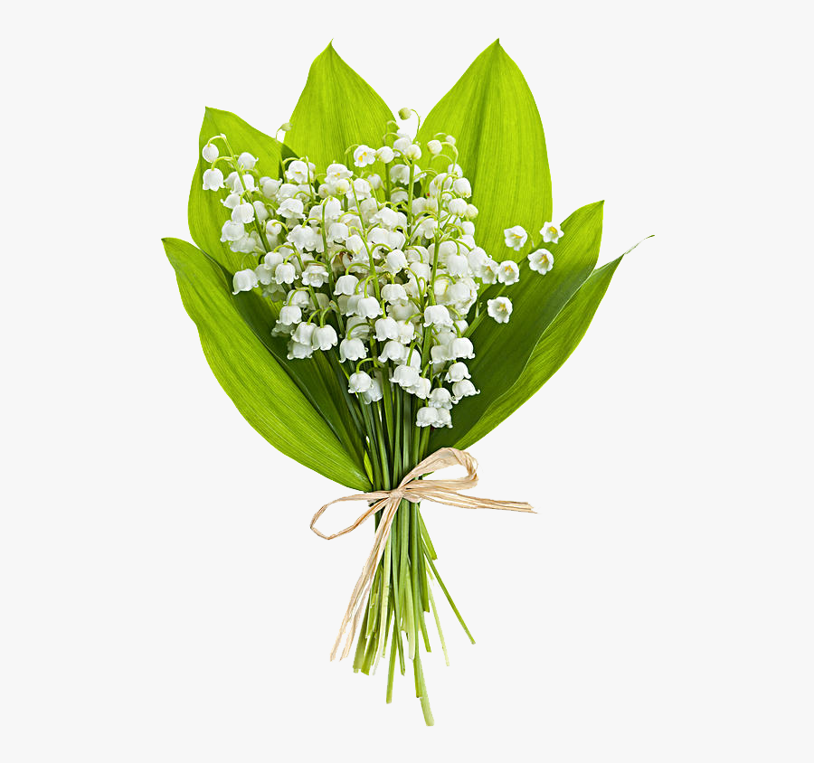 Black And White Flower Bouquet Clipart - Happy Birthday Flowers Lily Of The Valley, Transparent Clipart