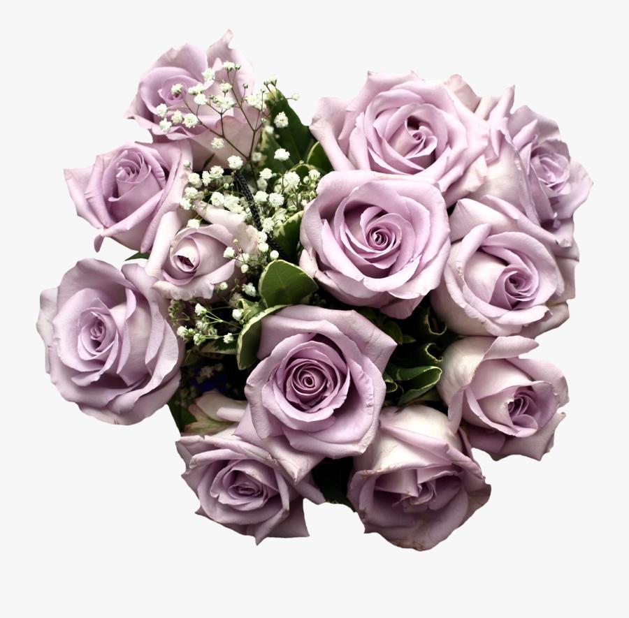 Purple Rose Flower Bouquet Light Download Hq Png Clipart - Light Purple Roses Bouquet, Transparent Clipart