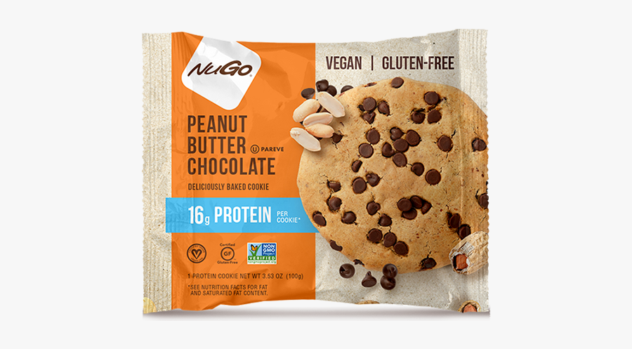 Nugo Protein Cookies Peanut Butter Chocolate, Transparent Clipart