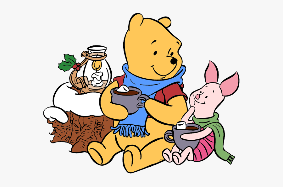 New Winnie The Pooh, Piglet Hot Cocoa - Winnie The Pooh And Piglet Christmas, Transparent Clipart
