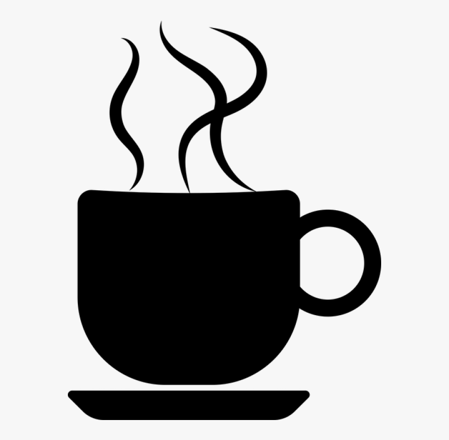 Hot Cocoa Shop Of - Cup Of Coffee Silhouette, Transparent Clipart
