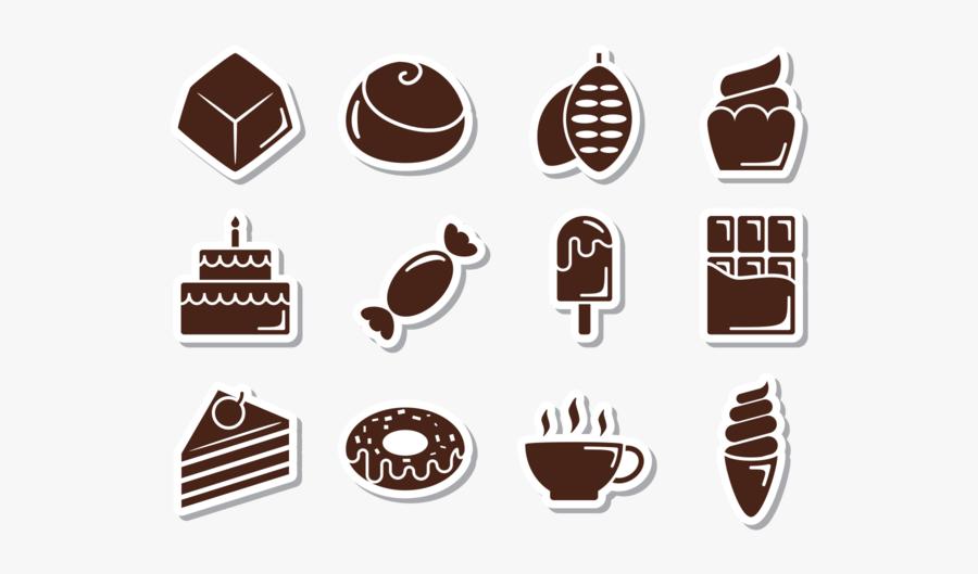 Icones De Chocolate Png, Transparent Clipart