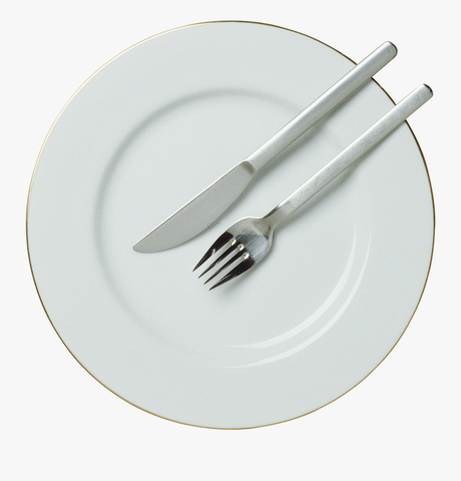 Fork Knife Plate - Plate Png, Transparent Clipart