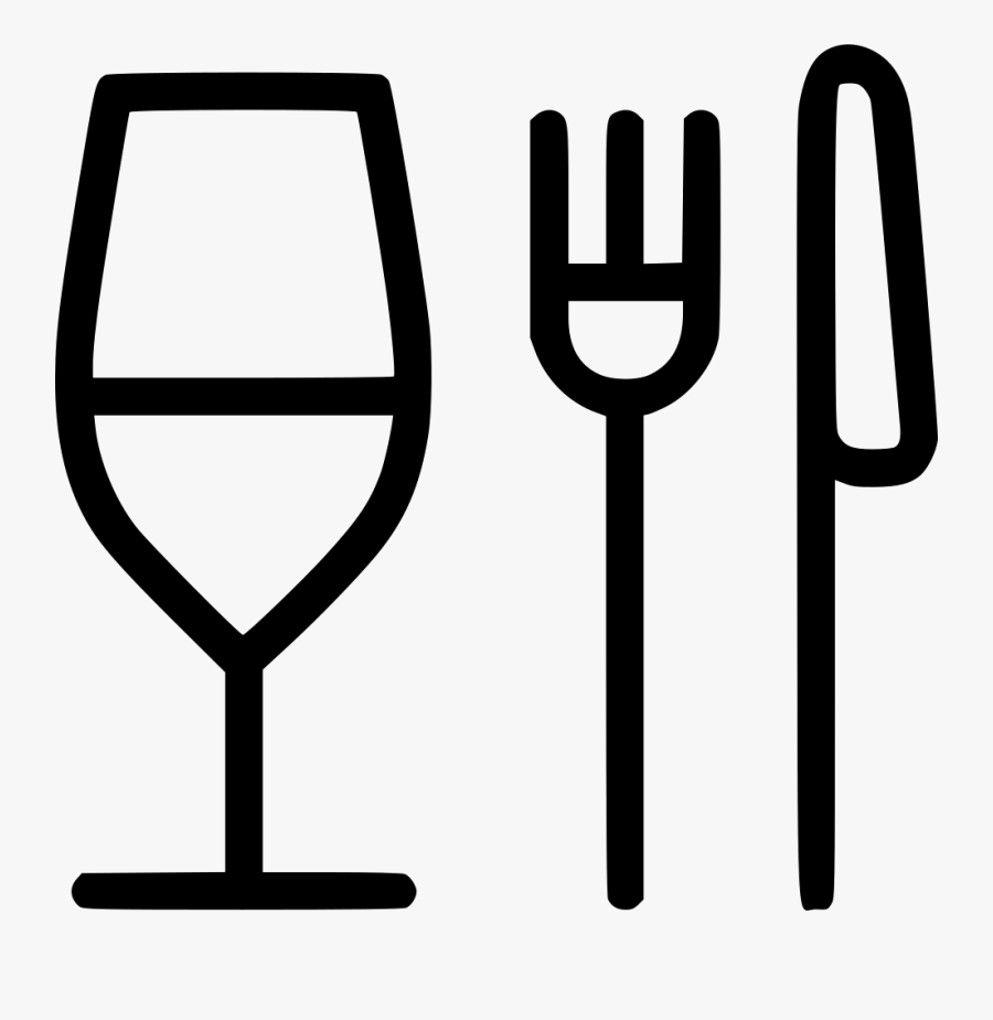 Glass Fork Knife Restaurant Food Comments - Fork Knife Spoon Png, Transparent Clipart