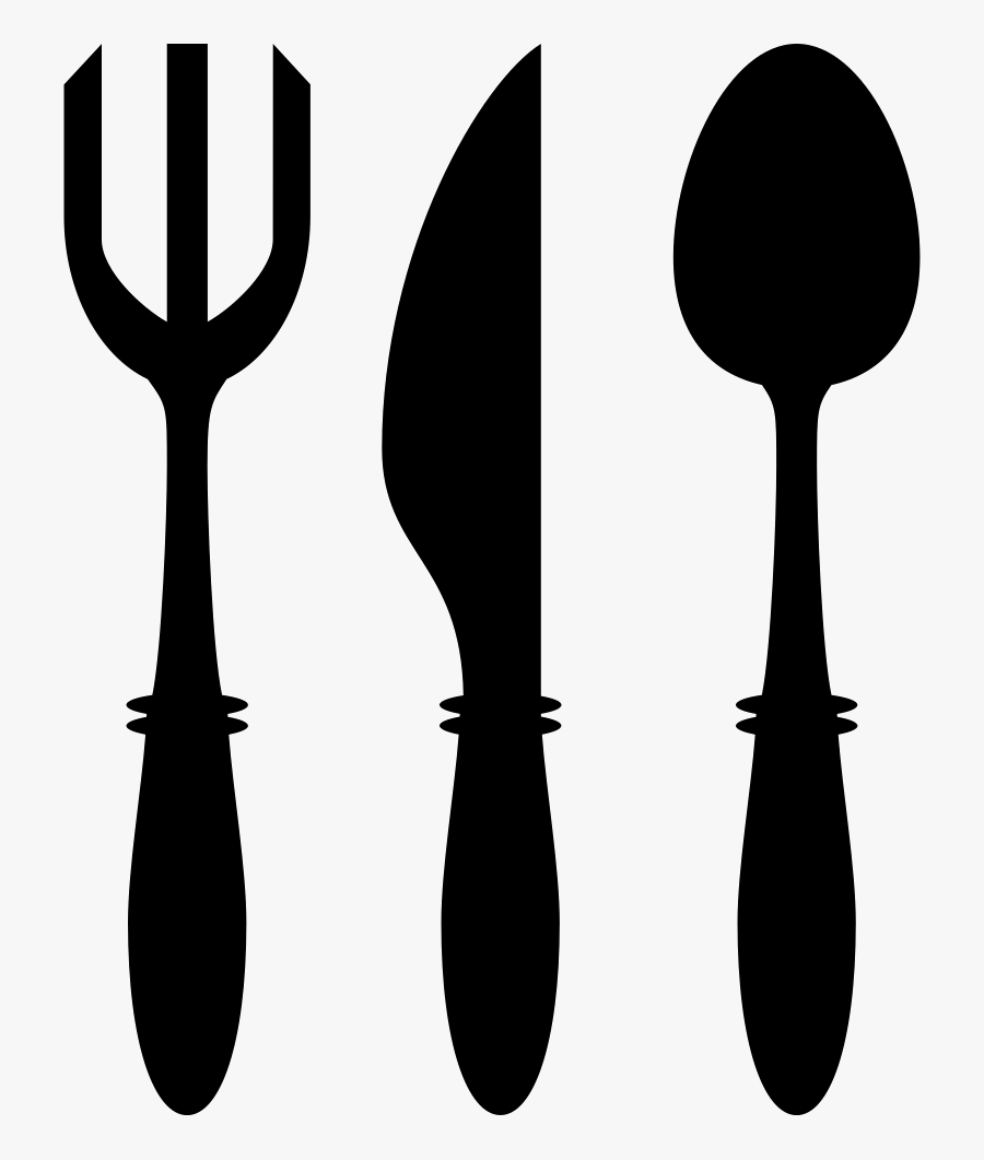 Fork Knife And Spoon Utensils - Fork Knife Spoon Icon Png, Transparent Clipart