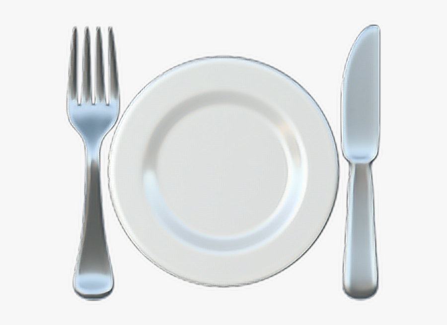 ❁ Fork And Knife With Plate Emoji 🍽️ - Fork And Knife With Plate Emoji, Transparent Clipart