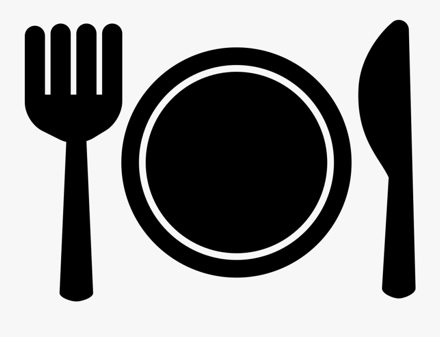 Plate Fork And Knife Comments - Black Plate Knife Fork, Transparent Clipart