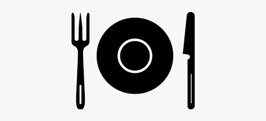 Plate, Dish With Fork Knife, Spoon, Cutlery, Restaurant - Circle, Transparent Clipart