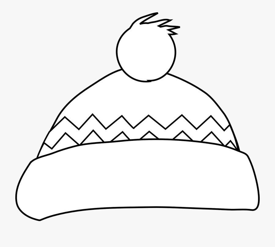 Winter Hat Outline Clipart - Winter Hat Clipart, Transparent Clipart