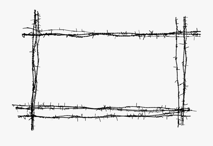 Clip Art Collection Of Free Fence - Barbed Wire Fence Png, Transparent Clipart
