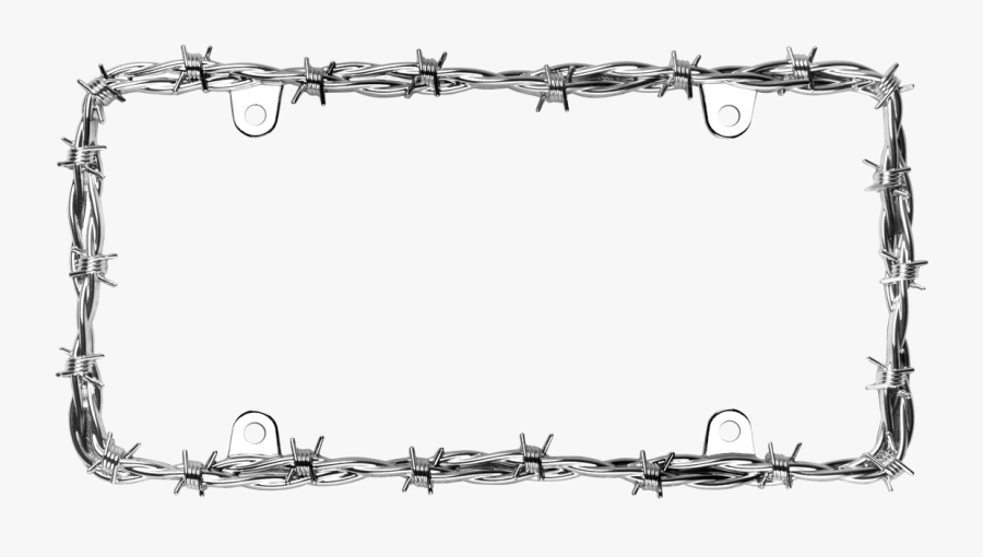 For Free Download - Barbed Wire Frame Png, Transparent Clipart