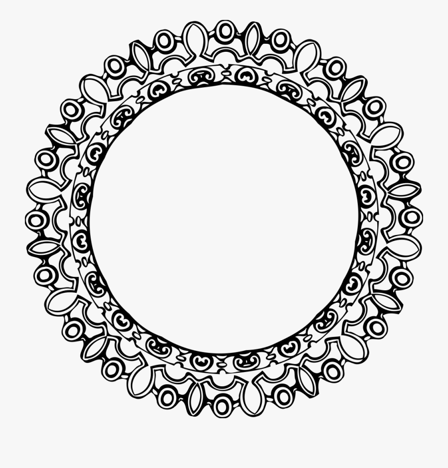 Line Art,symmetry,area - Chain Circle Frame Clip Art, Transparent Clipart