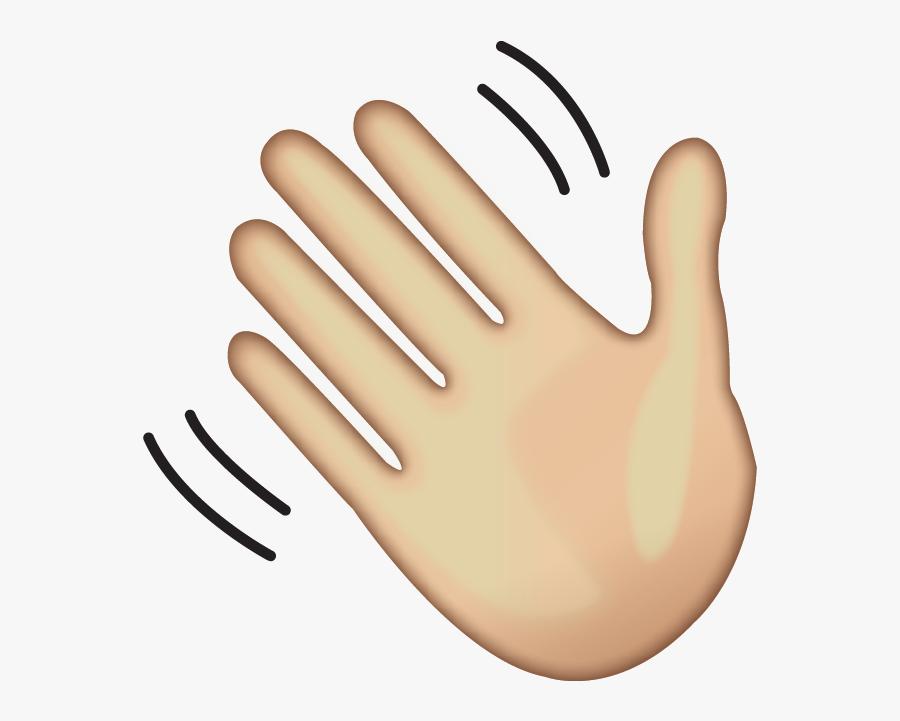 Clip Art Hand Waving Goodbye - Hand Emoji Transparent ...