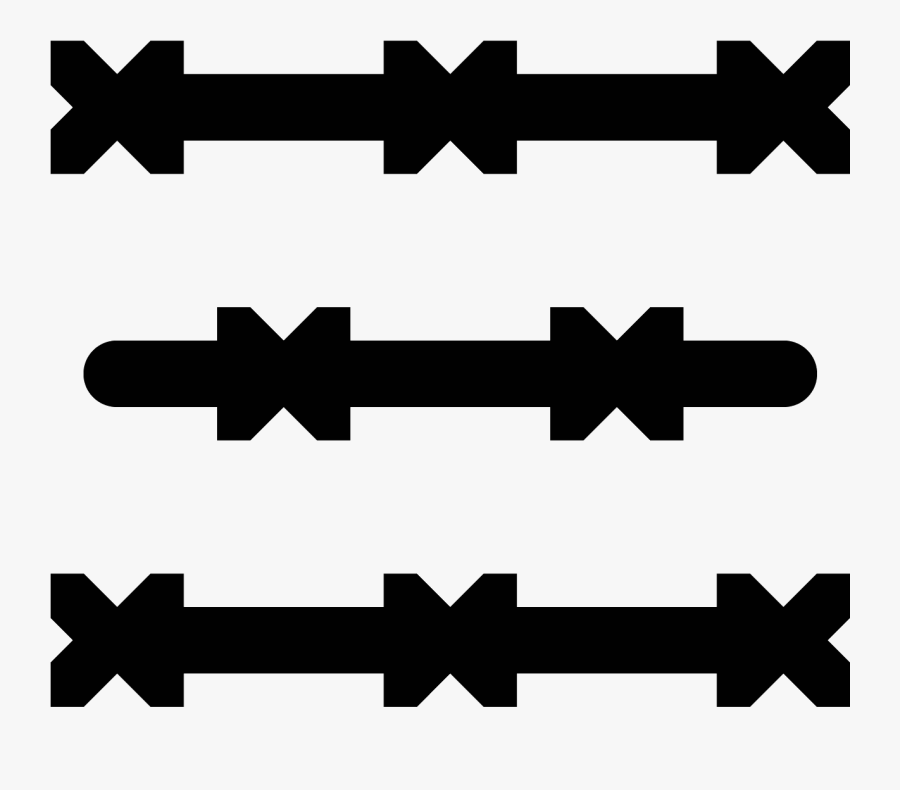 Barbed Wire Icon, Transparent Clipart