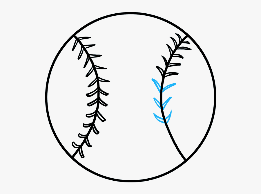 How To Draw Baseball - Draw A Baseball, Transparent Clipart