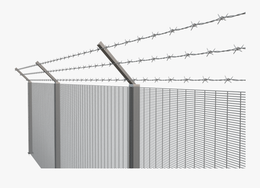 L Angle & Barbed Wire , Png Download - Angled Barbed Wire Fencing, Transparent Clipart