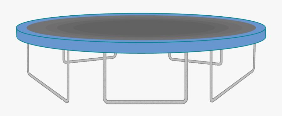 Trampoline Clip Art - 12 Foot Trampoline No Net, Transparent Clipart