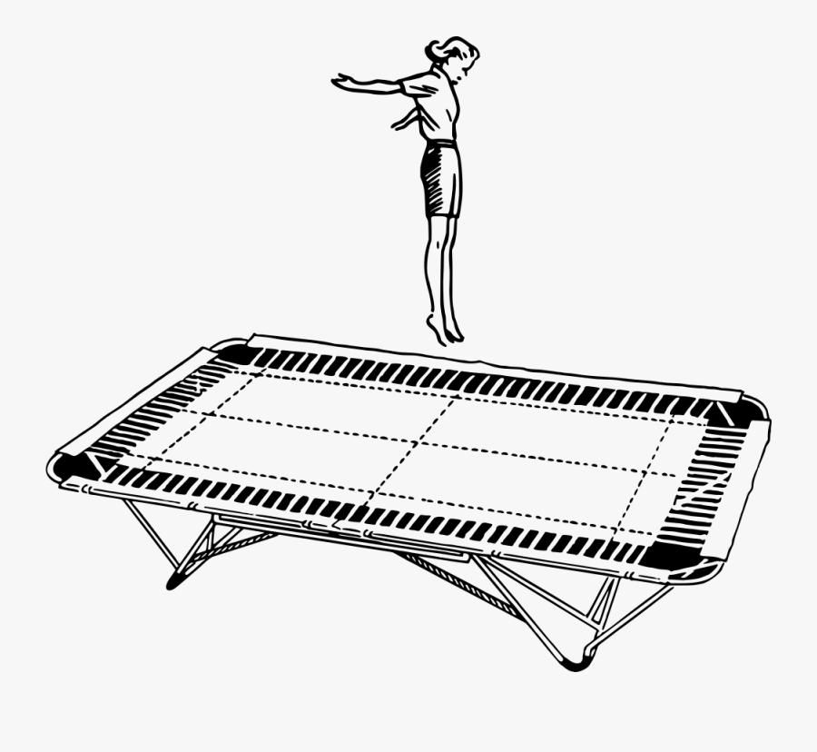Line Art,angle,area - Trampoline Clipart Black And White, Transparent Clipart