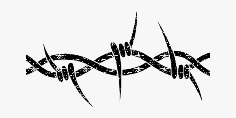 Wire Cyber Punk Cyberpunk Metal Freetoedit - Simple Barbed Wire Drawings, Transparent Clipart