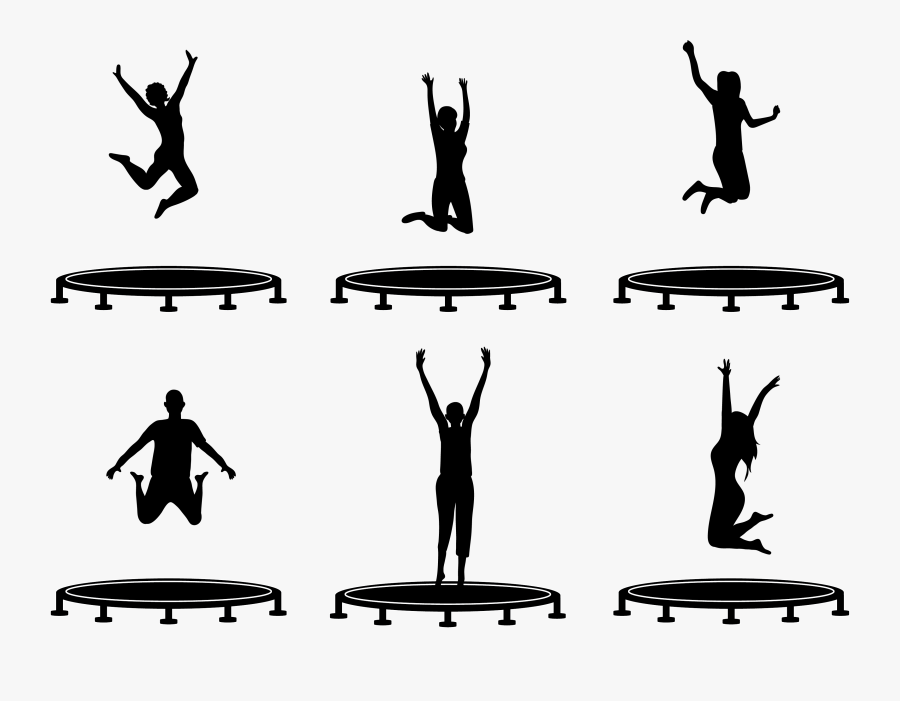 Trampoline Jumping Speed - Trampoline Silhouette, Transparent Clipart