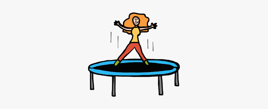 Professional Clipart Trampoline - Animated Women Jumping On A Trampoline Clipart, Transparent Clipart