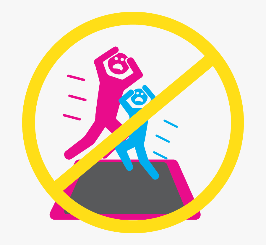 Safety Icon - One Person On A Trampoline At A Time Sign, Transparent Clipart